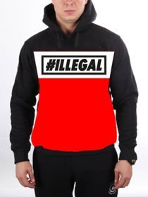 Bluza ILLEGAL kangurka RED Rogal DDL