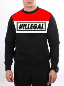 Bluza ILLEGAL klasyk RED Rogal DDL