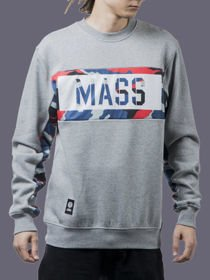 Bluza klasyk MASS crewneck BATTLE 2 szara