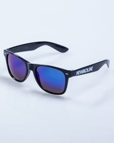 OKULARY NEW BAD LINE CLASSIC BLACK FLASH BLUE MIRROR 564