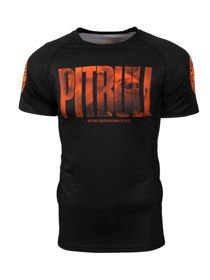 Koszulka PITBULL Rashguard Orange Dog PIT BULL