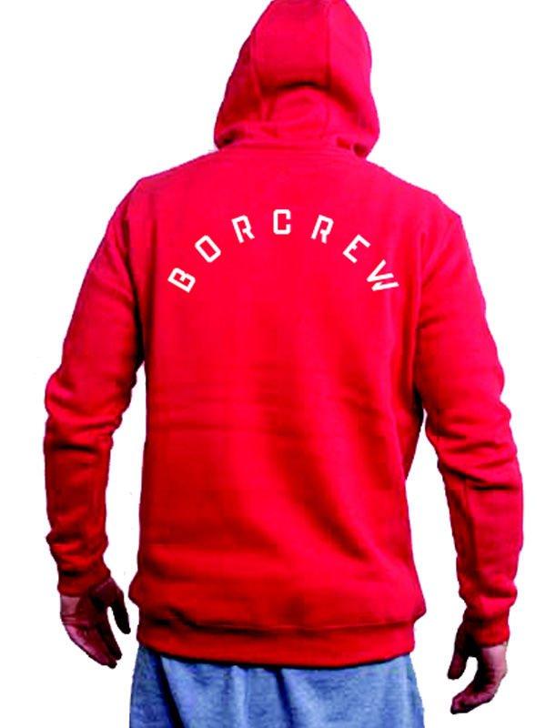 czerwona bluza borcrew