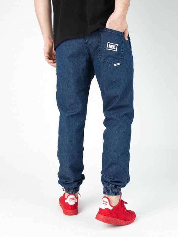 Spodnie jeans jogger NBL NEW BAD LINE ICON